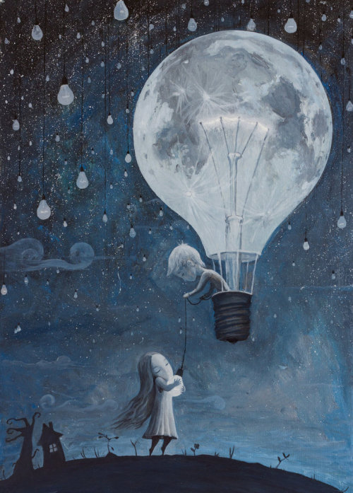 illustratosphere:  He Gave Me The Brightest Star by borda oil on canvas 36 x 48 cm