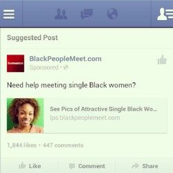 STOP suggesting #BlackPeopleMeet to me #Facebook!