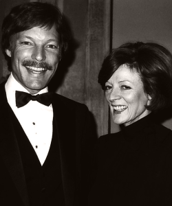 dontbesodroopy:  Richard Chamberlain and Maggie Smith, at the Chaplin Award Gala, 1983. Photo: Deborah Freedman (Source)