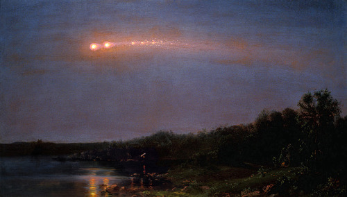 achromatisms:  Frederic Edwin Church, Meteor of 1860, 1860