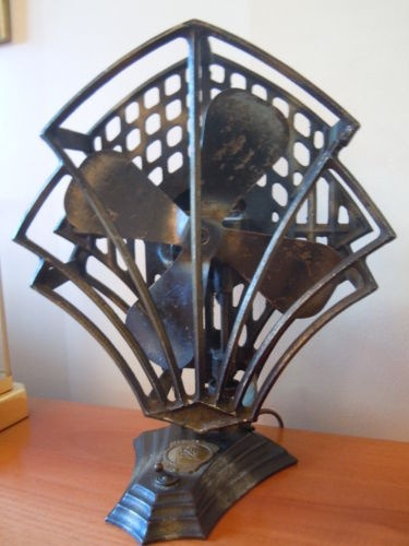 wasbella102:  20's-30's Art Deco Electric Oscillating Fan