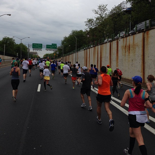 Beginning of the ocean parkway stretch @nyrr #brooklynhalf #coneyisland here we come