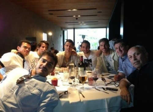 "ramostorresmata:  I can imagine Sergio making this call ""hey guys lets meet for lunch… Don't forget, on Mondays we were white"""