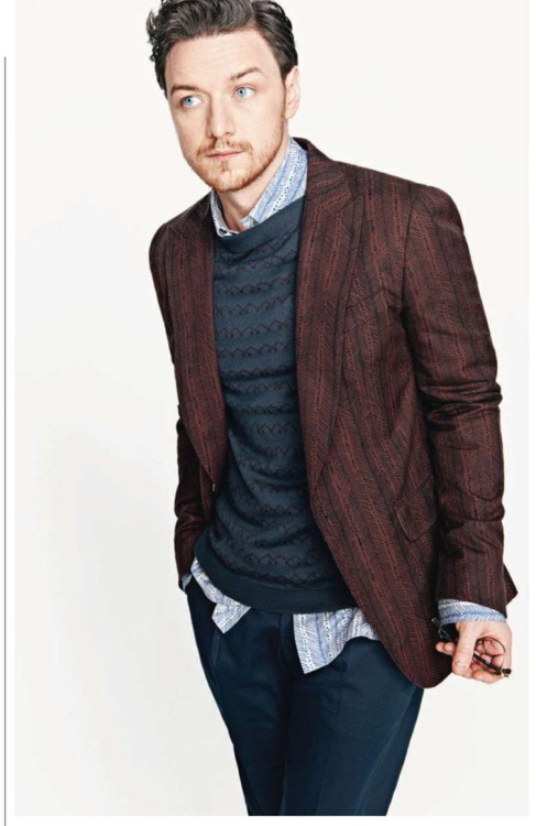 gasstation:  James McAvoy - Esquire UK by Simon Lipman, April 2013