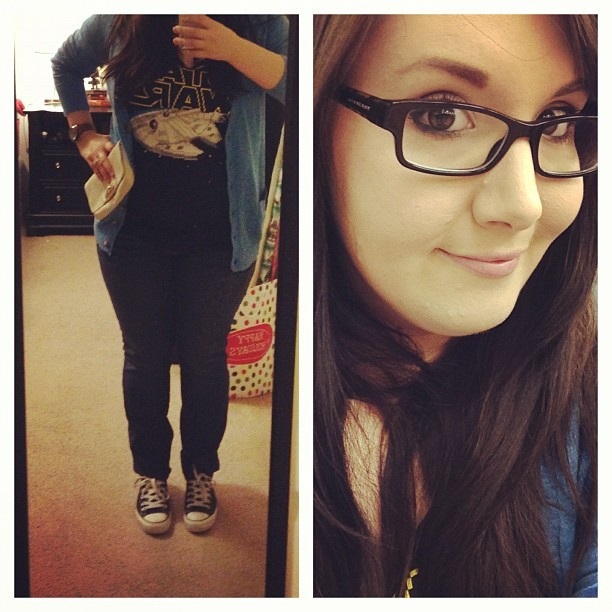 OOTD… Awesome Star Wars shirt :) #gpoy #starwars #ootd