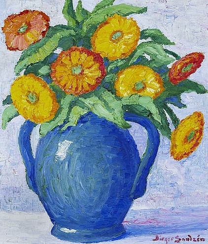 Birger Sandzen Vase with Flowers 1933