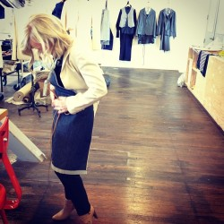 @loriyeomans styling aprons with @matt_dick today for #brushcreekranch #denimapron