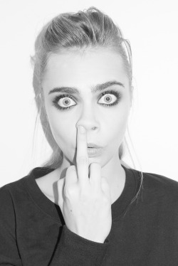terrysdiary:  Cara Delevingne at my studio #14