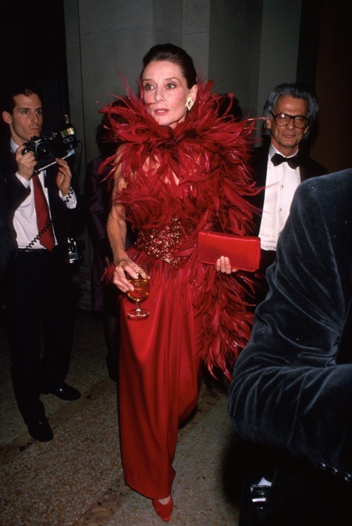 Audrey Hepburn wearing Givenchy, 1988 (and Richard Avedon in the back)
