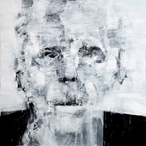 darksilenceinsuburbia:  Stephane Villafane. Just a Man I. Acrylic on canvas.