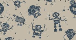 Dancing robots up for scoring at threadless http://thrdl.es/~/25Al