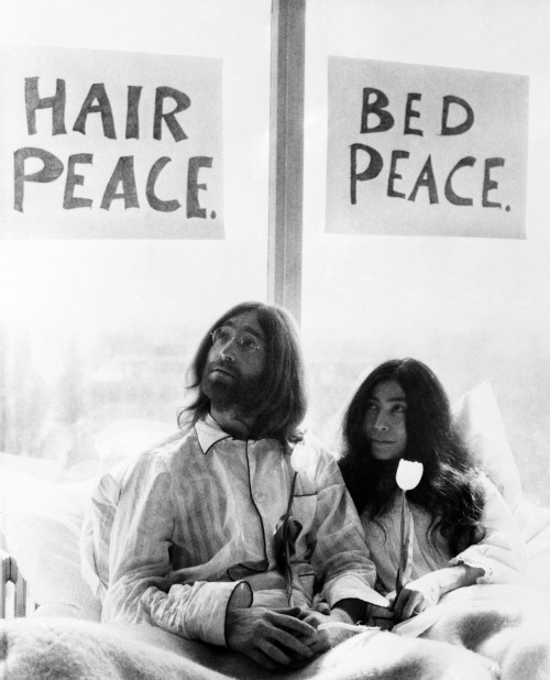 john lennon give peace a chance bed in peace
