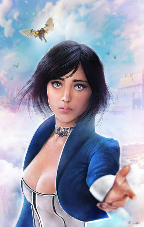videogamenostalgia:  Bioshock Infinite - by Isabella Morawetz Artist: Tumblr || DeviantART || Website || Twitter || Store (via: assorted-goodness)