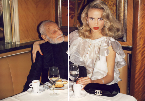just married!vogue paris 2.08ph: terry richardson models: natasha poly & pierre gerald