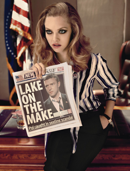 bohemea:  Amanda Seyfried & Justin Timberlake - W by Michael Thomspon, October 2011