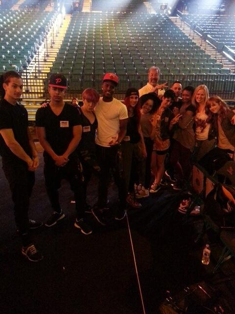 bieber-news:   @billboard: Dancing around at the #BBMA rehearsals w/ @JustinBieber's dancers!