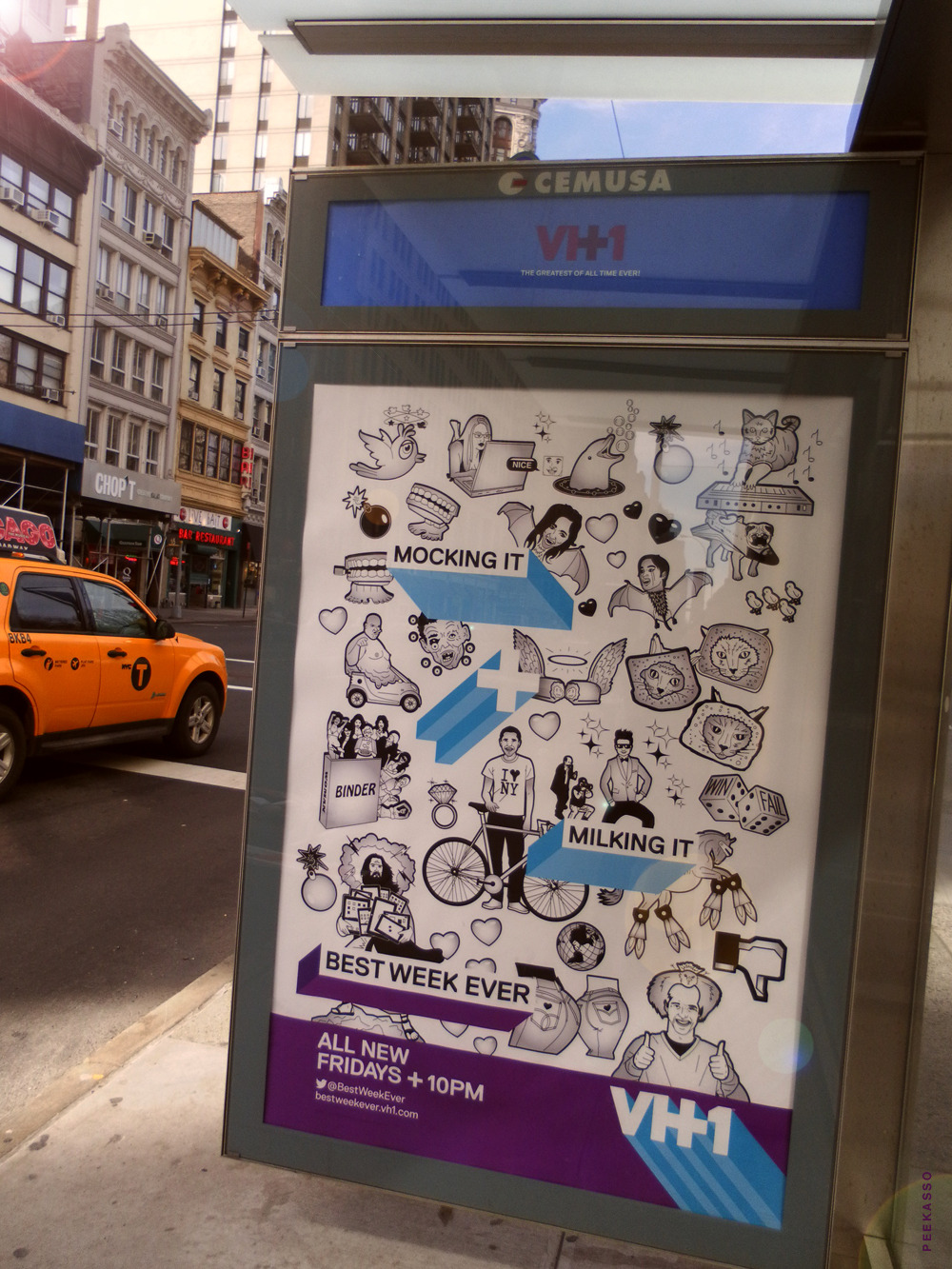 peekasso:  milking it  Have you seen any of our new ads around town? #plussed