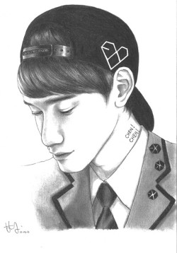 starchkurabu:  Chen! Chen! So excited about the EXO comeback ;3; I tried scanning for the first time but goodness it look quite bad to me!?!?