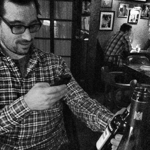 @zachbliss actually in a picture of hipsters taking pictures of wine he's had.