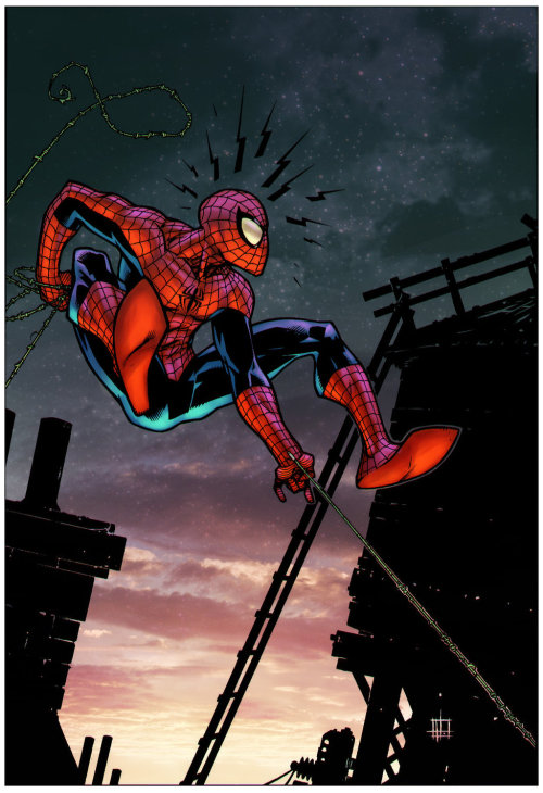 herochan:  Spider-Man Lines by Zach Howard Color by Paris Alleyne