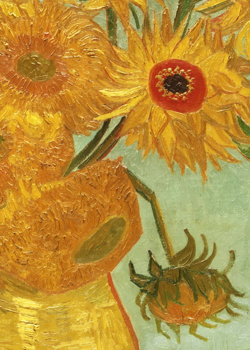 Vincent van Gogh, Sunflowers (detail), 1888 (x)