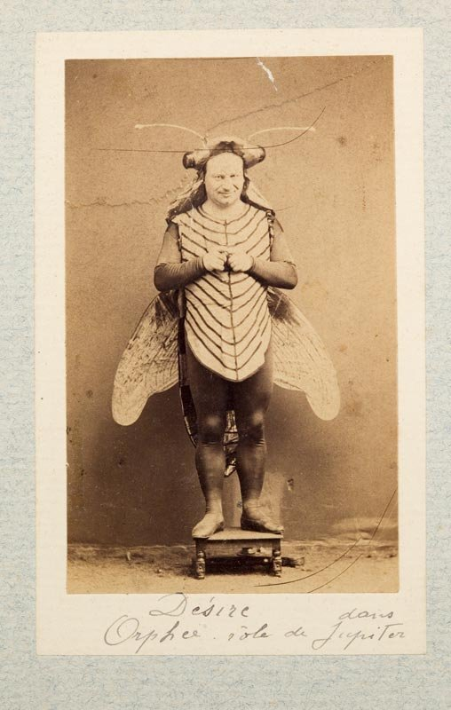 semioticapocalypse:  Actor in a fly costume. Paris, 1865. [::SemAp::]