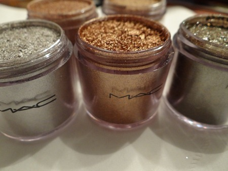 MAC Metallic Pigments. From my personal collection.