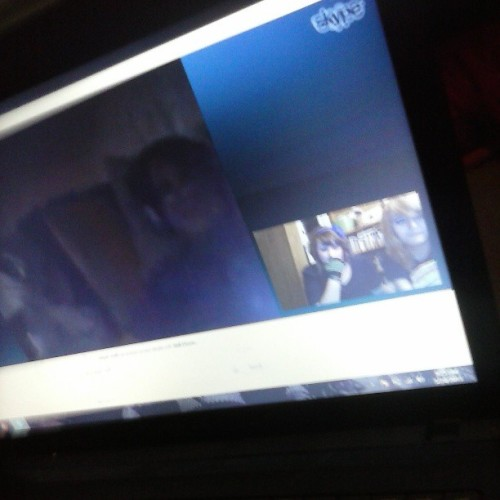 Me and @decembro skyping with Elijah :D
