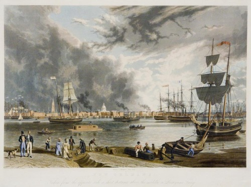 """ Port of New Orleans — 1841 ""  ….  Color Engraving"