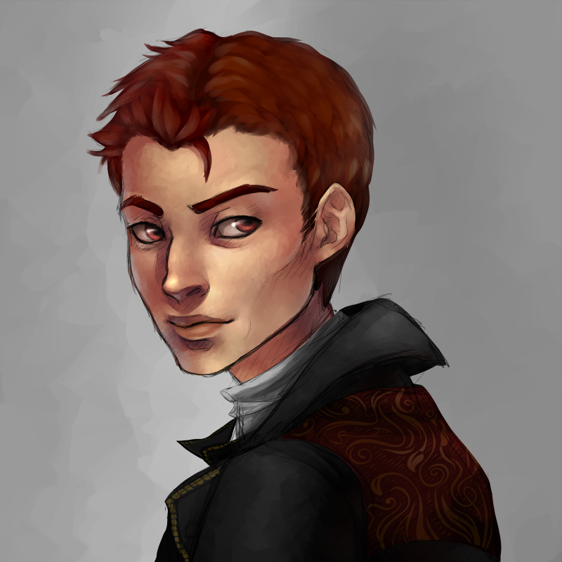 Okay, final (revised) version of that last painted headshot commission-  just had to fix the jawline a bit, but I guess this is final?  Maybe? hahaha