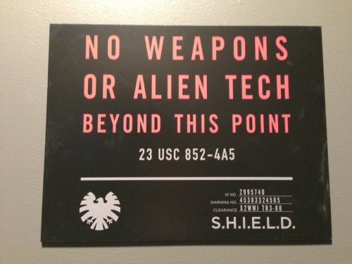 "Set Photo From ""S.H.I.E.L.D."" Released Maurissa Tancharoen, the executive producer of the pilot episode of ABC's S.H.I.E.L.D. pilot episode, has tweeted the above image from the set of the pilot. Whilst obviously it doesn't show us too much about the show which we don't already know, since well, it's just a sign, it is a nice touch. Indeed, the above image does also somewhat confirm the notion that the show is ""very Joss,"" as ABC Entertainment President Paul Lee remarked earlier this year. when discussing the pilot and commenting on the high probability of it being picked up by the production studio. [Spinoff]"