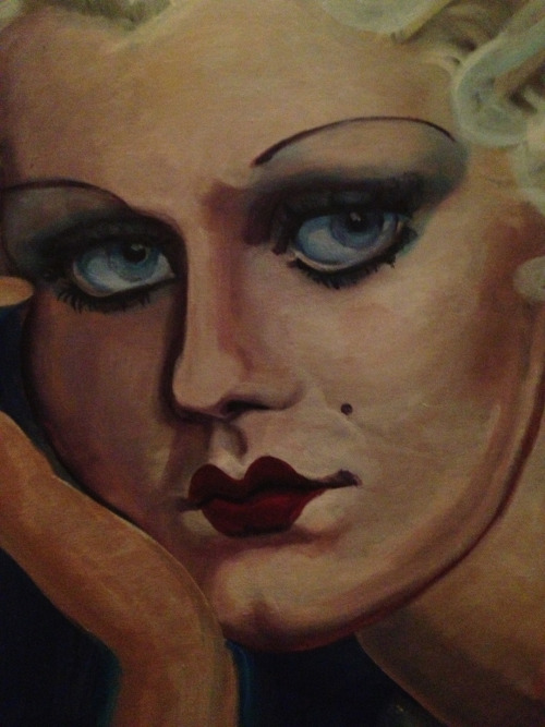 Work in progress; Jean Harlow.