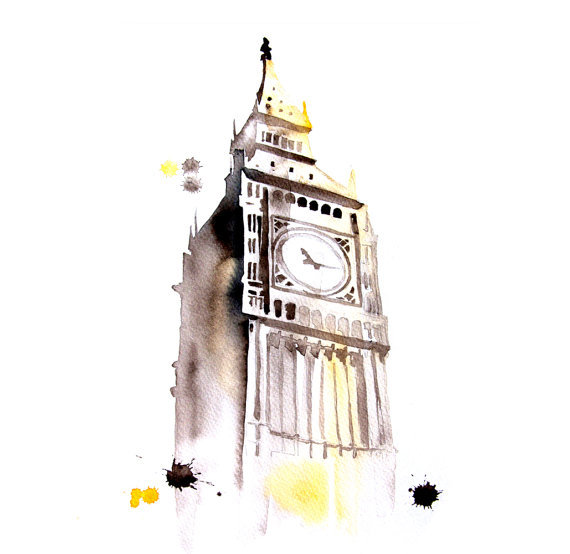 artpockets:  Big Ben London city abstract ART PRINT  http://www.etsy.com/treasury/MTU1NDg0NTl8MjcyMTg2MTEwOQ/beige