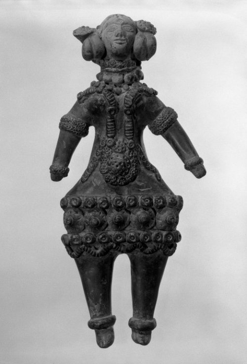 centuriespast:  Mother Goddess Medium: Gray terracotta Dates: ca.320-200 B.C. Period: Maurya Period Brooklyn Museum
