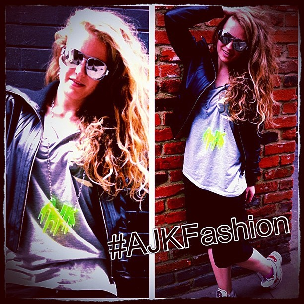 #Fashion #Street #Cool #Girl #Funky #Swag #Neon #Necklace #Dancer #Model #AJDance #Agency