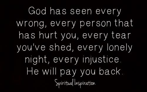 spiritualinspiration:  Do you know how important you are to God? He cares so much about every detail of your life. He cares about your thoughts, feelings, and emotions. In fact, what you are going through is so important to Him that He records every sorrow and collects every tear you've shed. Why would God record your sorrows and collect your tears? It's because He loves you so much. He is your Vindicator. He's keeping account of every wrong that's ever been done to you so that He can make up for every single one of them. He wants to restore everything that has ever been stolen. He wants to heal every single hurt and pain. He sees the longings and desires of your heart, and you can rest assured that behind the scenes He is working things out for your good!  I want to remind you today that God is with you. He is on your side. He has your best interest at heart, and He is working to bring restoration and peace to every area of your life. Keep standing, keep believing, and keep doing the right thing because the One who collects your tears will restore every broken place in your life!