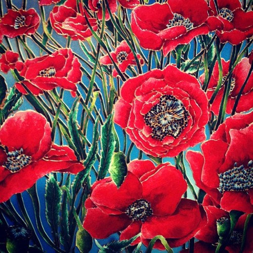 #painting #art #poppy (drawn/outlined with melted metal… Pretty cool) #manchester