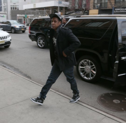 Jay-Z was spotted in Manhattan on Friday afternoon, heading into The Bowery Hotel.