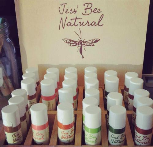 Let Jess' Bee lip balms keep your lips smooth and hydrated on this cold winter's day. All natural and chemical free. Look for them at the checkout area!
