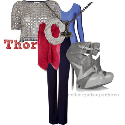 Thor by redcarpetsuperhero*   Thor Odinson for skycaptainsjournal   *this is my (Anika's) personal polyvore; I put together this outfit after watching Thor (for the umpteenth time — favourite!) last week so I thought I'd just publish and post it here rather than recreating.