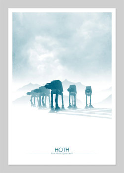 tiefighters:  Hoth 13X19 Print available for £20.00(GBP) @Etsy Created by DirtyGreatPixels