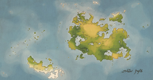A world map of Mygith.