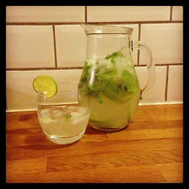 Extreme gardening calls for mojitos! (at garden)