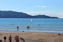 Kapiti Island from Waikanae Beach on Christmas Day, New Zealand submitted by: Susie, thanks!