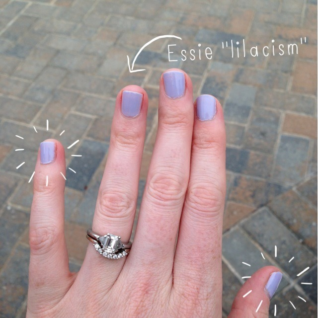 Loving this nail color for spring!  Nora slept an extra 30 minutes two days ago so I had time to paint my nails. It was very cathartic.