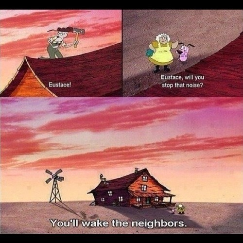 You'll Wake The Neighbors thoe Lmao #90scartoons #courage #cartoonnetwork #tigergorawr #follow4follow #gofollow #followme #yeahbuddiiieeee