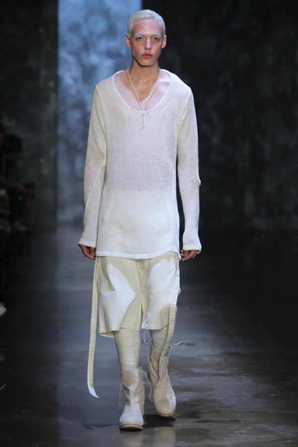 homme-manifest:  Alexandre Plokhov Spring/Summer 2013 | New York Fashion Week this really makes me want to dye my eyebrows white