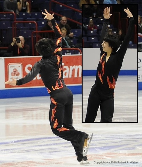 Cordero Zuckerman skating his short program at the 2010 Novice US National Championships. His music was Nyah, from Mission Impossible II.