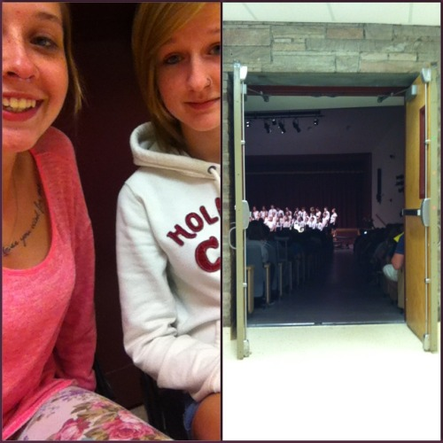 Mine and my sisters hallway view of the concert!