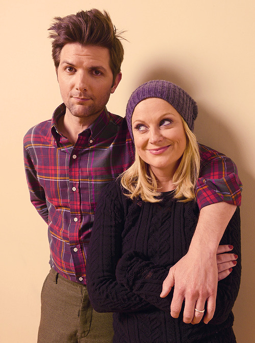 Amy Poehler and Adam Scott at this year's Sundance Film Festival.
